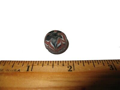 Ancient Roman empire super glass bead large specimen 2000 years old lovely #7