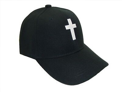 Christian Cross Religious Theme Baseball Cap Caps Hat Hats God Jesus Black White