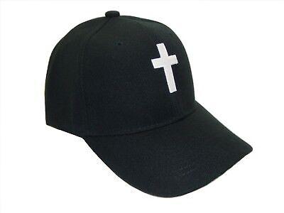 - Christian Cross Religious Theme Baseball Cap Caps Hat Hats God Jesus Black White