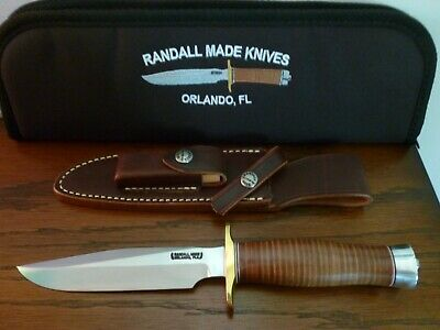 Randall Made Model 1-6 Leather Handle Sheath All Purpose Fighting Knife New