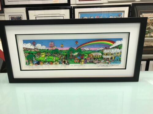 """Charles Fazzino 3D Artwork """" A Hole in One Behind Bush 13 """" Signed & Numbered"""
