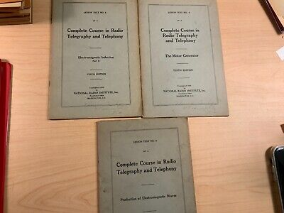 1924- Vol.4-5&6- Complete Couse in Radio Telegraphy & Telephony