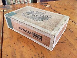 Boîte antique à cigares