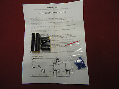 ACOUSTIC RESEARCH AR-3 CROSSOVER CAPACITOR KIT SNC70229 AND ABOVE-LIFETIME GUAR.