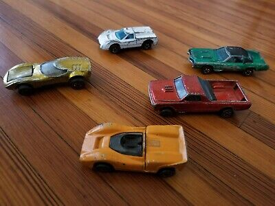 Vintage Hot Wheels Red Line Lot 5 Fleetside El Dorado Turbo J-Car McLaren 67 68