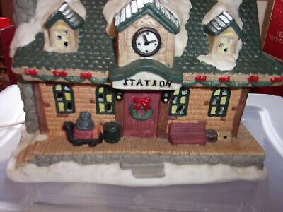 Mervyns Village Square train station , Train set and bridge 3 piece lot