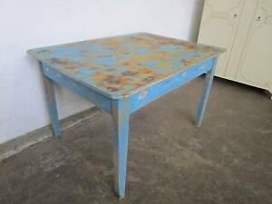 C52009 Gorgeous Vintage Rustic Blue Kitchen Dining Table Unley Unley Area Preview