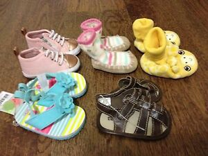 Baby girl shoes 0-3 months lot