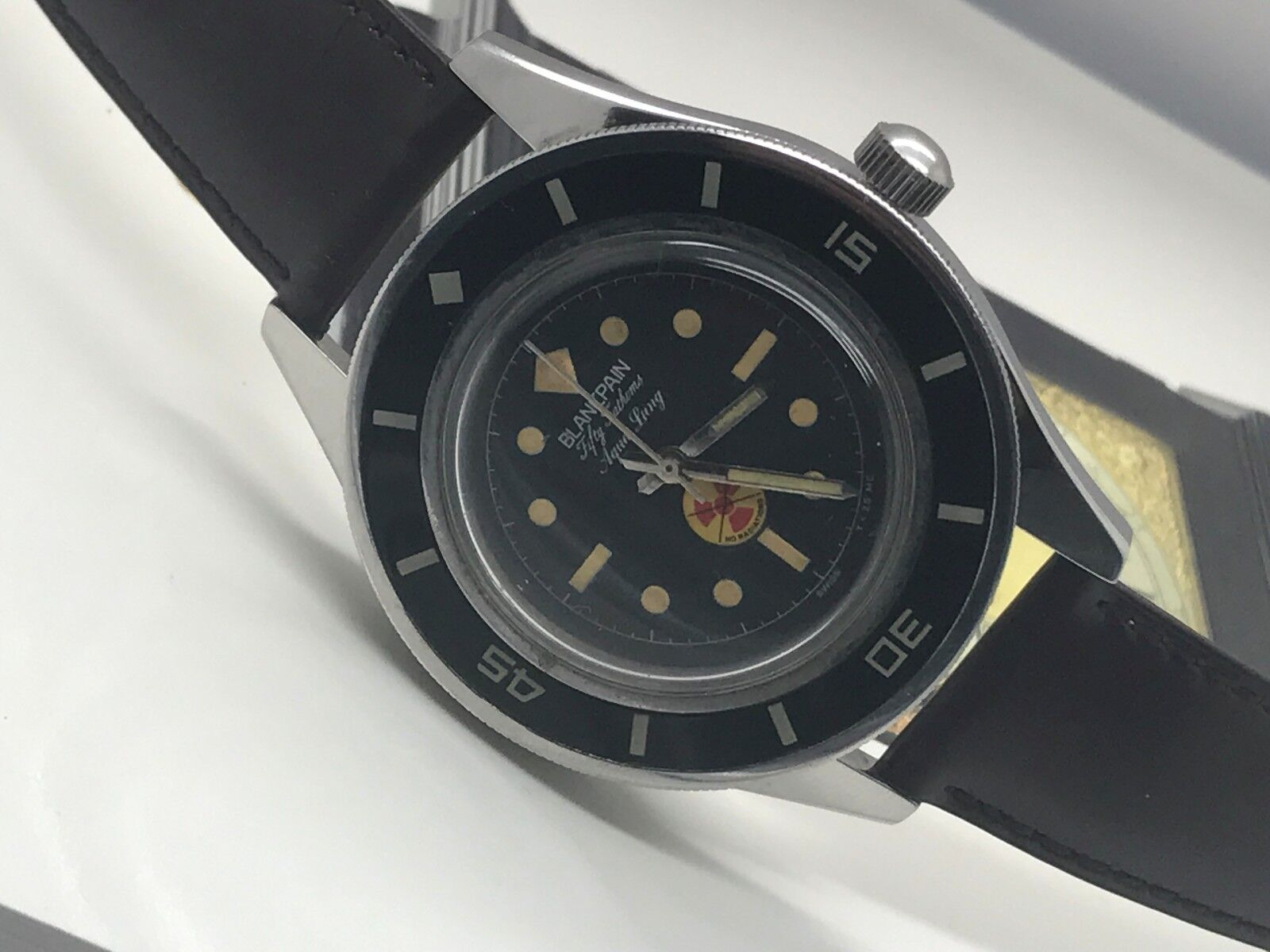 VINTAGE BLANCPAIN FIFTY FATHOMS SS CUSTOM CASE MEN WATCH - watch picture 1