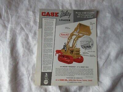 Case 310d Crawler Loader Specification Sheet Brochure