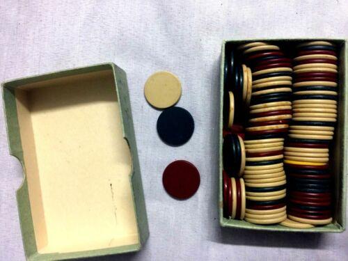 Vintage Poker Chips U.S. Anchor Vintage Chips 100 count Travel