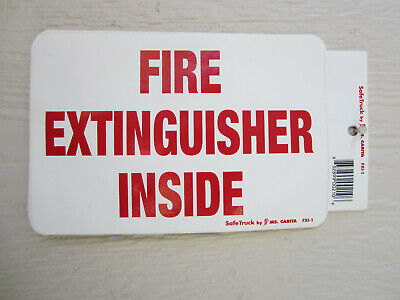 Ms Carita Fxi-1 Fire Extinguisher Safety Decal Sticker Label - Free Shipping