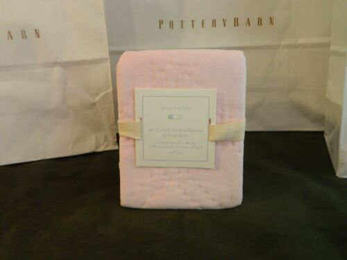 NWT Pottery Barn Baby Velvet Quilted Sham Size Small 12 x 16