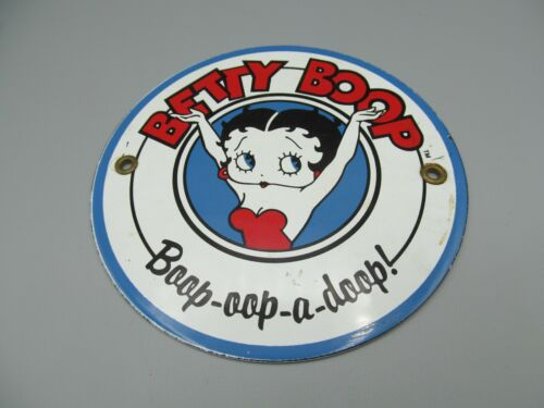 Betty Boop Small Porcelain Sign (Standard Signs Inc)