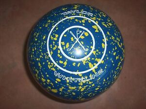 Taylor WHITELINE Lawn Bowls Size 4H WB21 Blue/Yellow Speckled Surfers Paradise Gold Coast City Preview