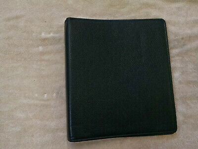 Day Timer Planner Black Pigskin Leather Binder Classic Franklin Covey