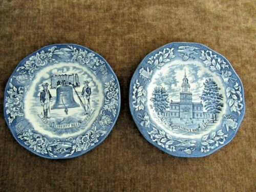 Vintage Avon Liberty Bell & Independence Hall Bicentennial Plates Wedgwood 1976
