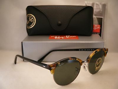 Ray Ban 4246 Clubround Spot Black W Green Crystal  G 15  Lens  Rb4246 1157