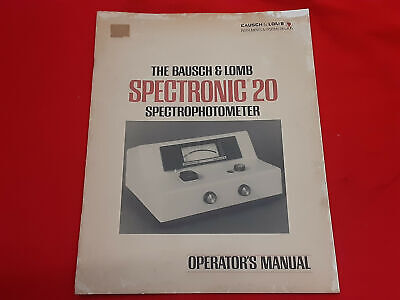 Bausch Lomb Spectronic 20 Spectrometer Operators Manual Guide  4p5