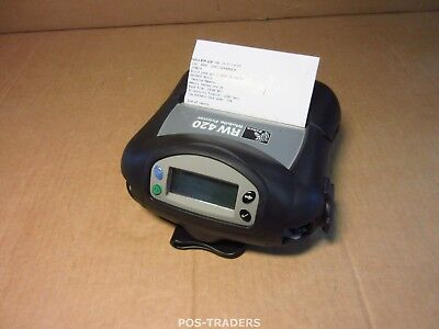 Zebra RW420 Direct Thermal Mobile Printer R4D-0UGA000E-00 Wireless 802.11B/G