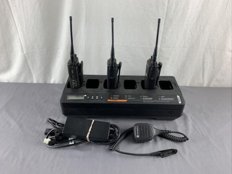 "MOTOROLA PMPN4283A ""IMPRES 2"" Multi (Six) Unit Charger With (3) XPR7550e Units"
