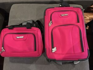 Pink carry on luggage