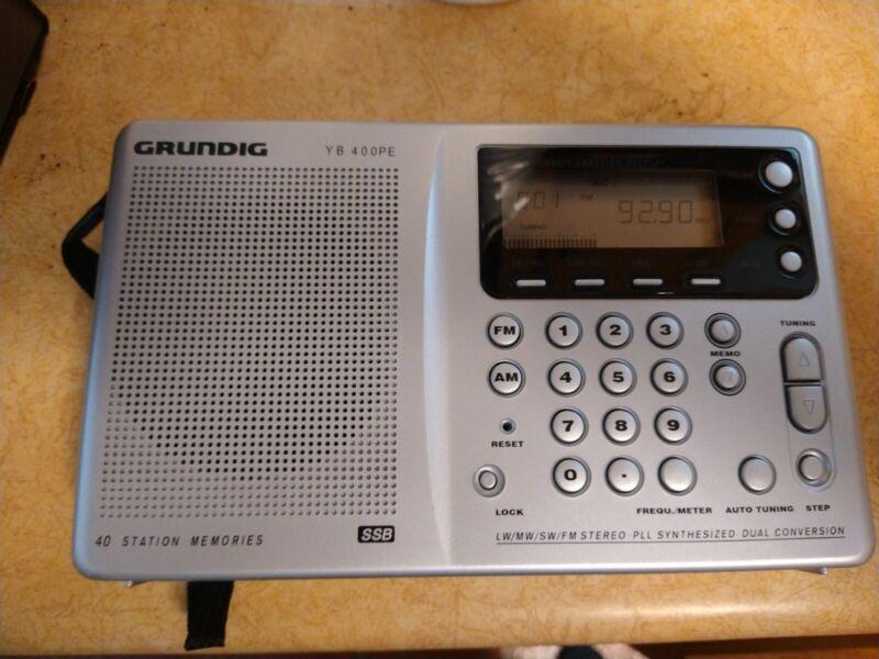 Grundig YB-400PE AM/FM/SW Portable Radio - SSB - Works Great-40 Station Memories