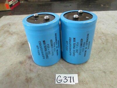 Aerovox Capacitor Type Cgs 4300mfd 200 Vdc Max Surge 250 Vdc Lot Of 2 New