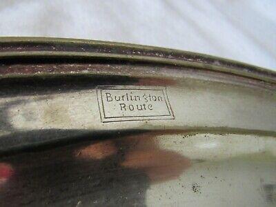 "Rare Vintage Burlington Route Reed & Barton Silver Soldered Oval Dish 10"""