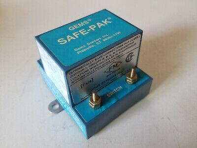 Used GEMS Sensors Safe-Pak, Intrinsically Safe Switch Circuit NO, 240V, ST-25873 Intrinsically Safe Switches
