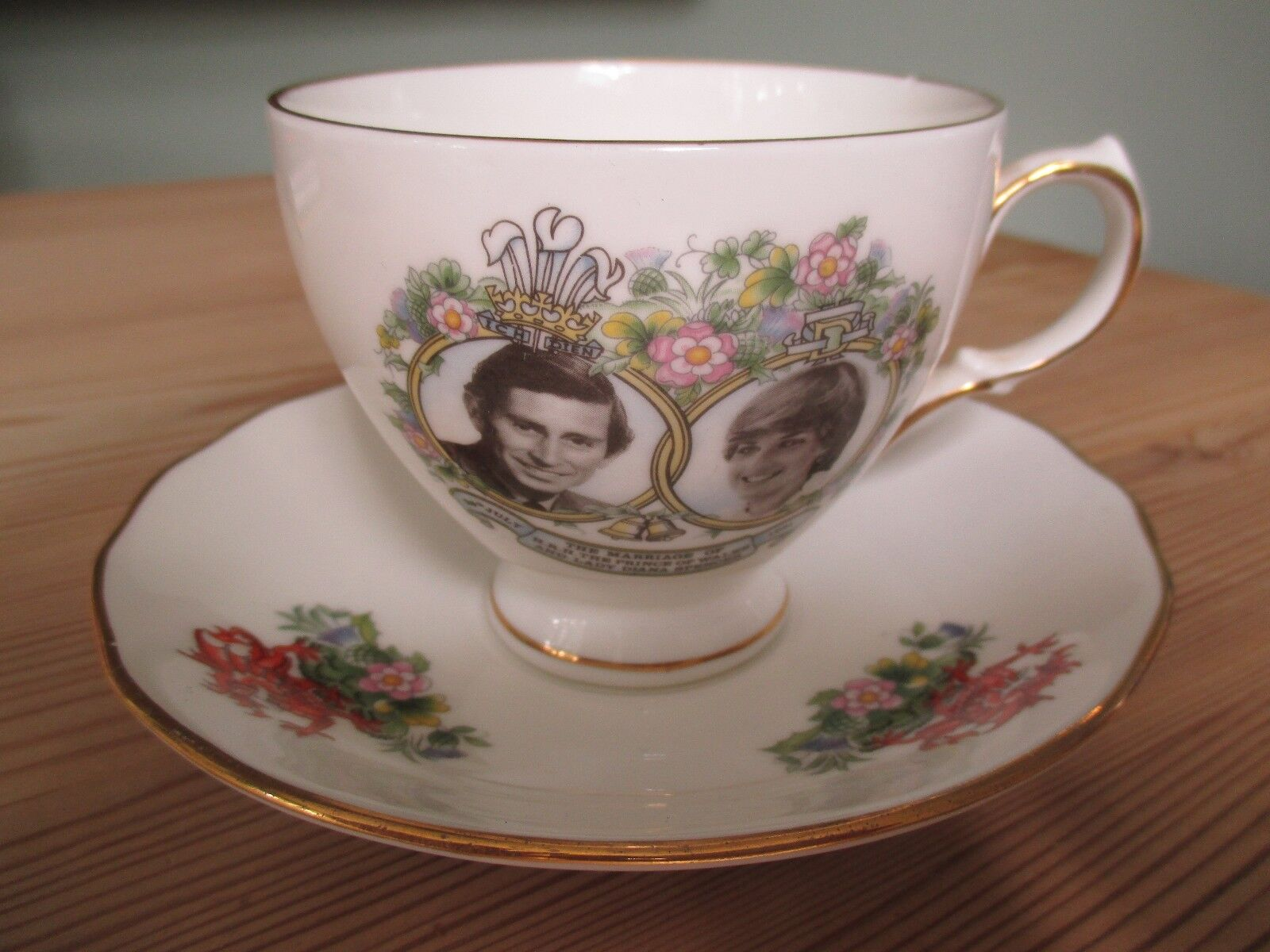 Royal Wedding - China Cup and Saucer - Charles and Diana