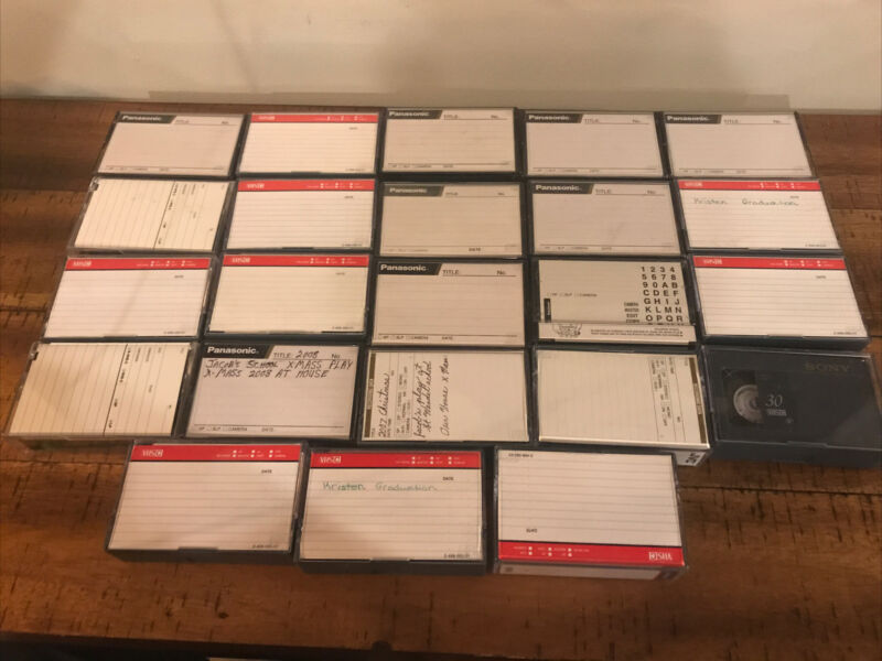 VHS-C Used Camcorder Tapes Lot Of 23 Sold As Blanks Might Have Top-Secret Info!!