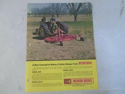 Bush Hog Models 109 109-o 1209 Rotary Cutters Brochure