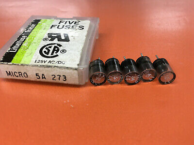 Littelfuse Micro 5a 273 5 Amp 273005 Fuses  Quantity Of 10 Fuses