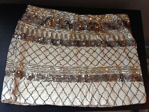Gold and cream sparkly skirt