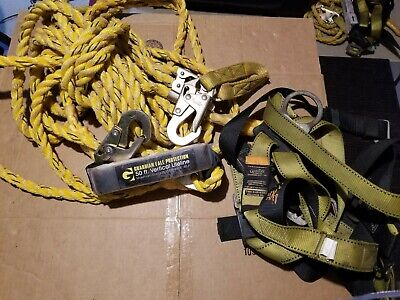 Guardian Fall Protection Kit 50 Vertical Lifeline W S-l Velocity Harness