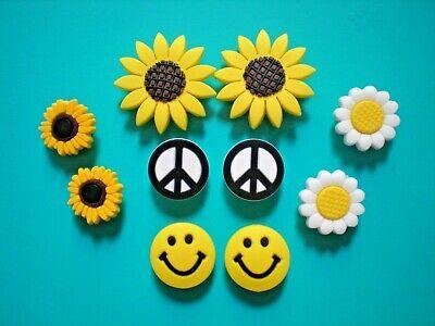 Shoe Charm For Croc Jibbitz Accessories Smile Face Peace Sign Daisy Sun Flower - Flower Croc Shoe