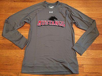 (New Under Armour SMU Mustangs Team LS Long Sleeve Shirt Women's Small Grey $45)