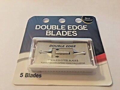 Razor Blades, 5 Pack Blades, Best Choice, Double Edge Blades, Stainless