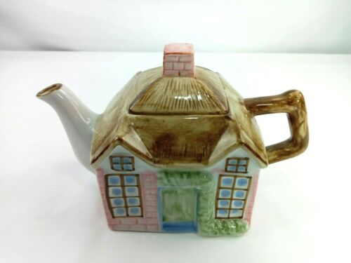 """Collectible Teapot Shaped as Country Home...approx 9 X 6"""""""