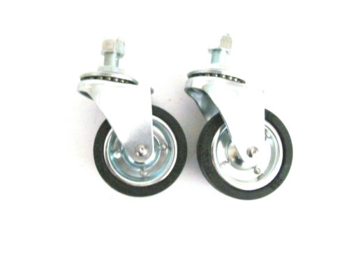 """Solution #48 Surface Cleaner Replacement  PAIR of 3"""" Front Castors with Locknut"""