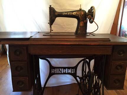 Vintage Singer Treadle Sewing Machine Abermain Cessnock Area Preview