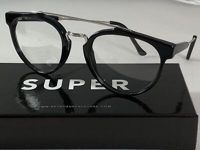 SALE Retrosuperfuture Giaguaro Optical Black Frame Glasses SUPER 618 49mm NIB