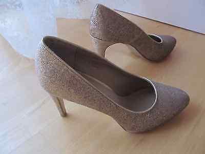 Glizer Schuhe Pumps Gold Glitter Weihnachten Silvester Party Gr. 39 NEU Glitter Party Schuhe