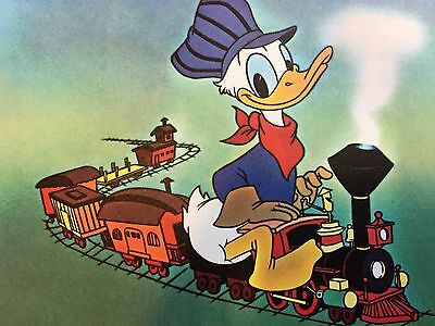 VINTAGE Walt Disney Productions Engineer Donald Duck Postcard 5.5 x 7.5