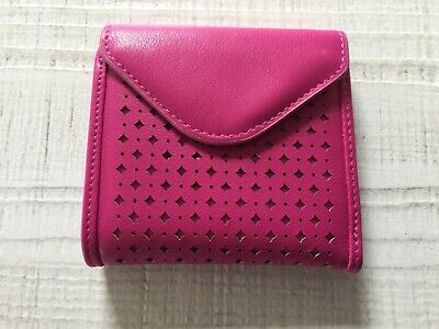 NEW Nieman Marcus Hot Pink Black Wallet Card Holder Purse 4 inches x 4 inches - Pink Card