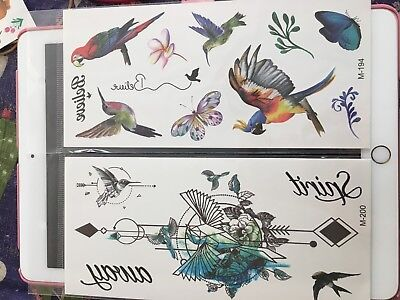 Flowers Butterfly Tigers Eagles Waterproof  Body Temporary Tattoos Stickers USA - Tiger Butterfly Tattoo