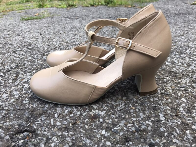 """LaDuca 35.5 W Teresa T-Strap Charater Broadway Dance Shoes Soft Sole 2.5"""""""