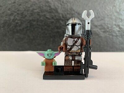 STAR WARS Custom Mini figure THE MANDALORIAN & CHILD (FINAL) !UK STOCK!