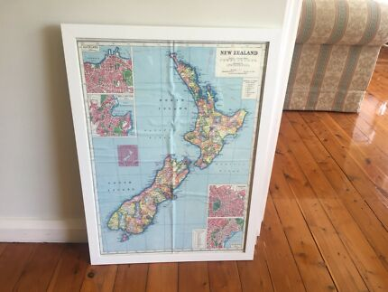 Vintage maps poster calendar cavallini art gumtree australia nz map gumiabroncs